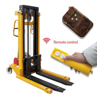 1T Warehouse forklift Semi Electric Pallet stacker Semi Pallet Lifter