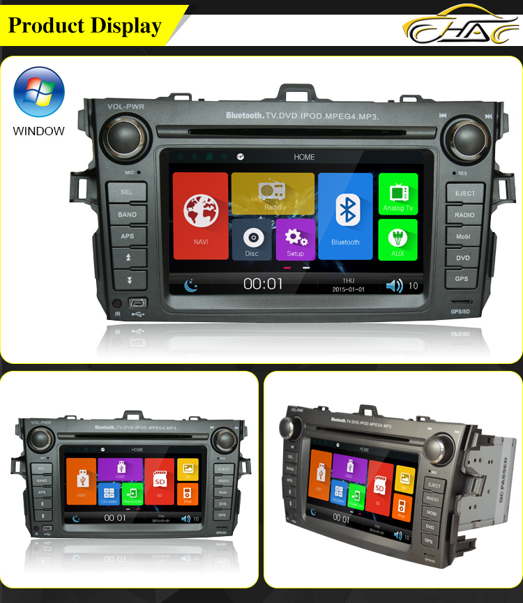good quality good price for toyota corolla verso car radio dvd gps navigation system buy for. Black Bedroom Furniture Sets. Home Design Ideas