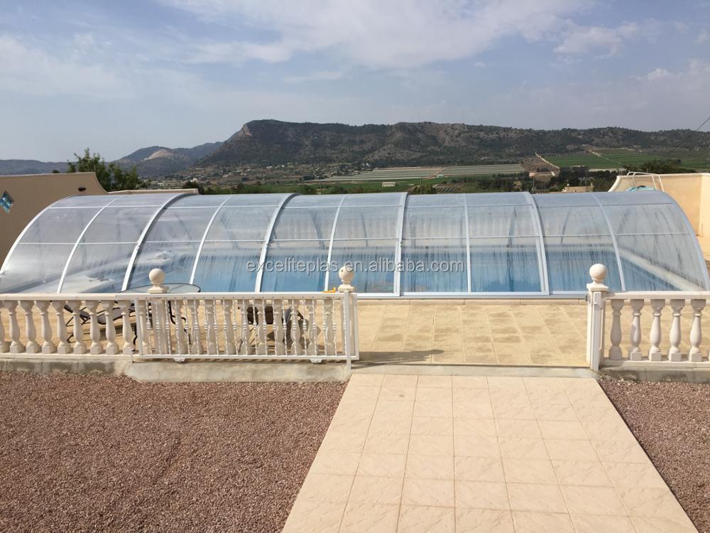 Garden Swimming Pool Dome Enclosure Telescopic Pool