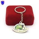 Custom Metal Green Car Services Keychain Keyring for Gift