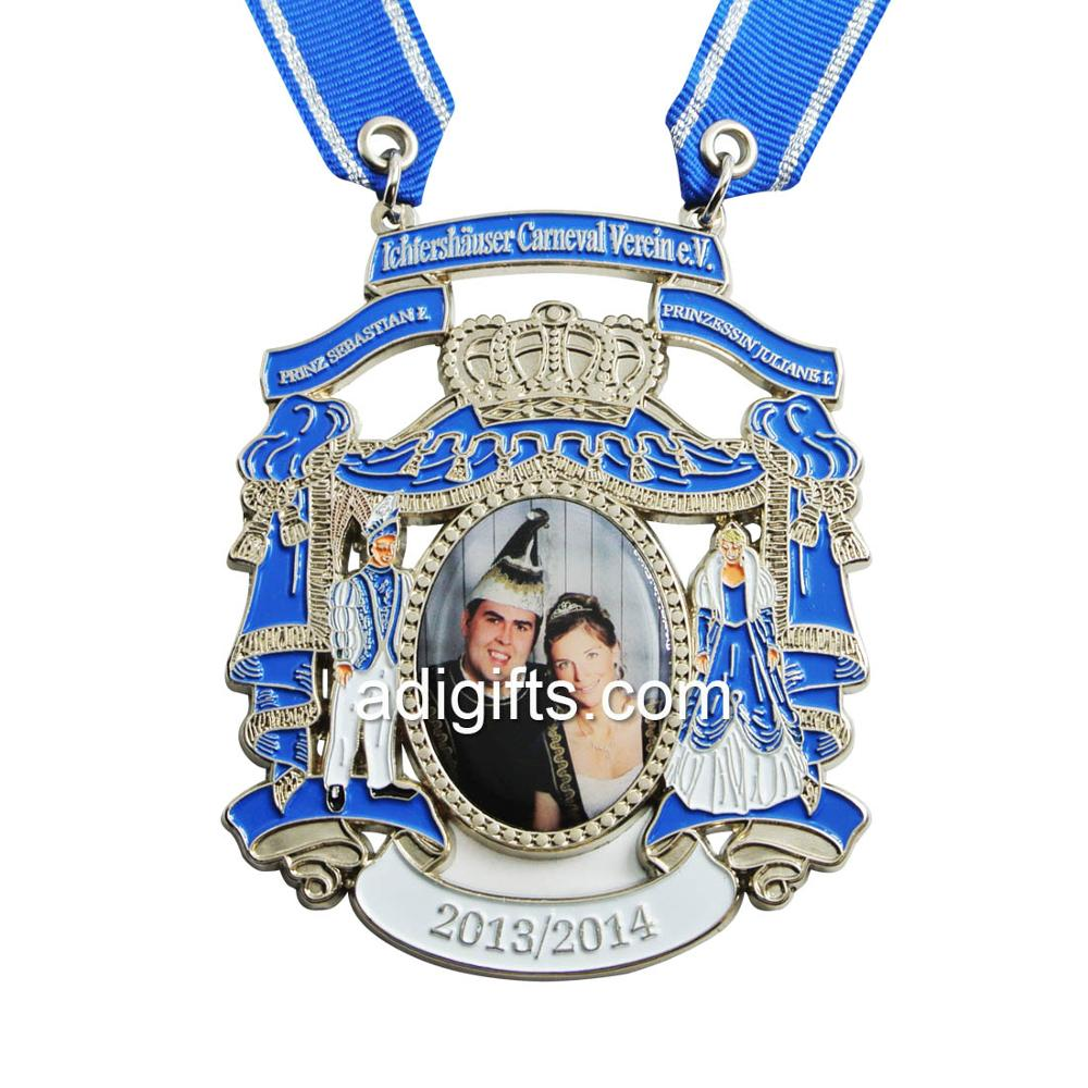 high quality zinc alloy shiny copper merry carnival medal