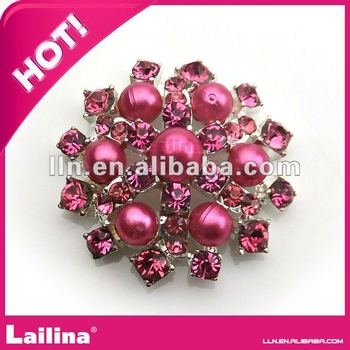 charming red pearl and crystal rhinestone buttons