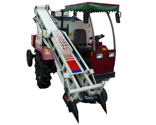 Four wheels automatic peanut groundnut combine harvester