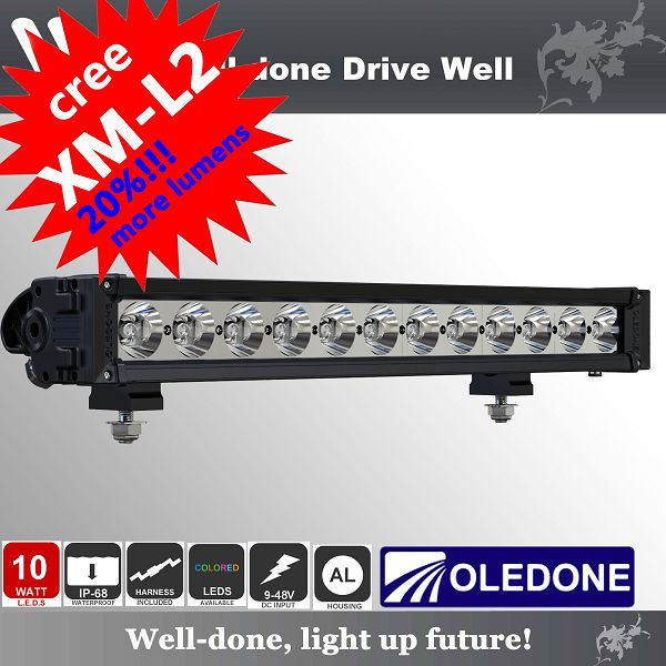 Oledone 20 Inch IP6810W single row <strong>CREE</strong> ATV led light bar