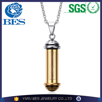 Memorial Tube Perfume Bottle Jewelry Urn Pendant Necklace Stainless Steel Gold Silver Ash Keepsake Cremation Jewellery