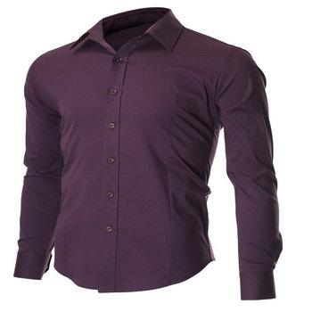 43ca3f4f548 Para hombre camisas para hombre Oficina desgaste slim fit camisa de vestir  blanca
