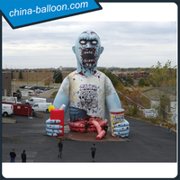 Hot sale giant inflatable zombie model walking dead for halloween decoration