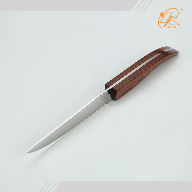 Amazon Hot selling wood handle stainless steel flying tableware knife