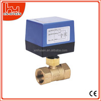 24V,110V,220V HVAC System Brass Electric Motorized Ball Valve 2 Way,3 Way