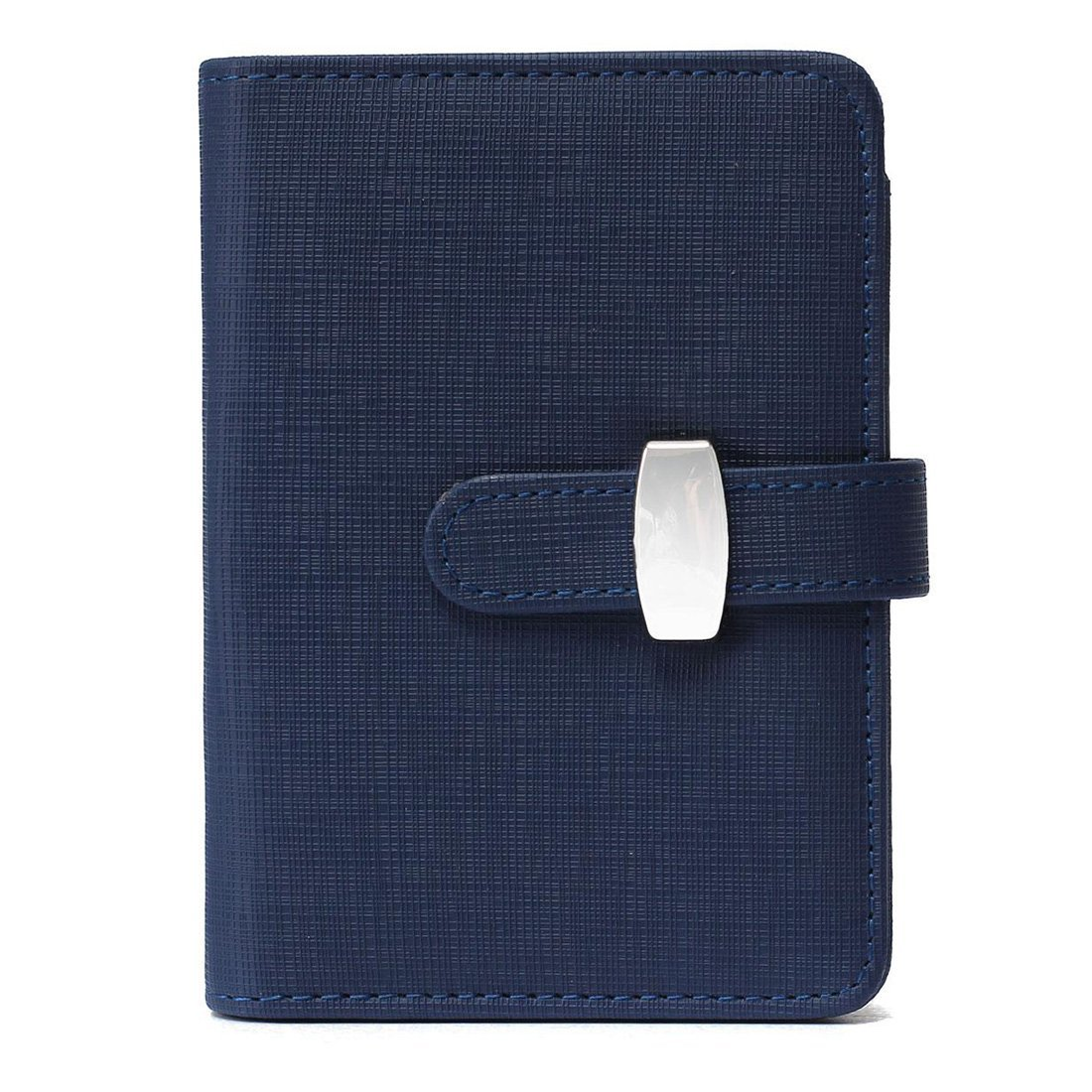 TOOGOO(R) Modern Design A6 Personal Organiser Planner PU Leather Cover Diary Notebook School Office Stationery£¨Blue£