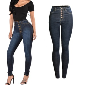 Wholesale Leggings Ladies Elegant Waist Skinny Jeans Pants