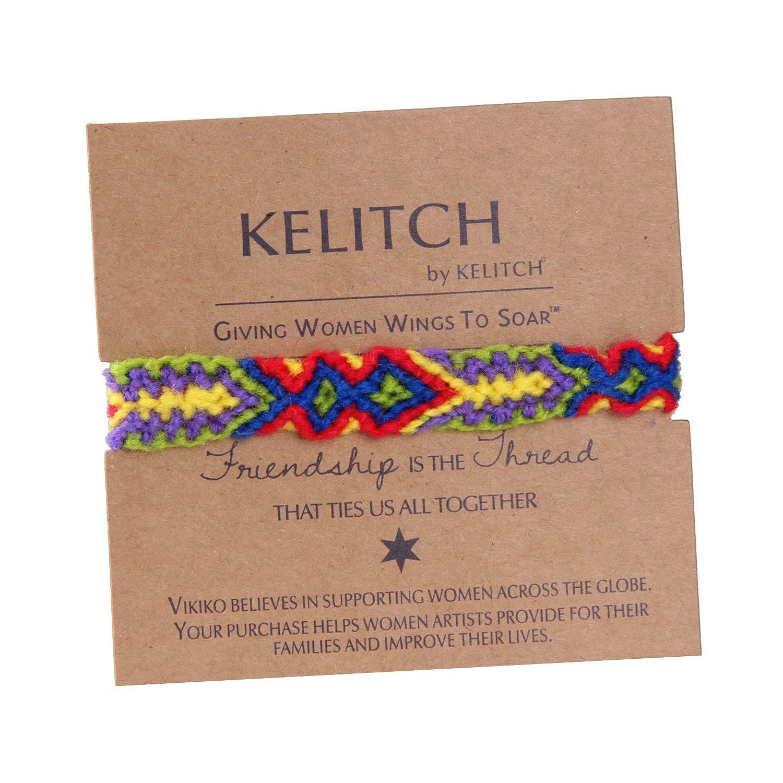 KELITCH Multicolor Braided Friendship Bracelet Handmade Thread Wrap Bracelets Bangles Jewelry