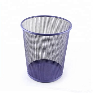 Office Stationery 3 Size Round Mesh Wire Metal Paper Waste Bin