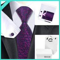 Fashionable Pocket Square Cufflink Silk Tie Set