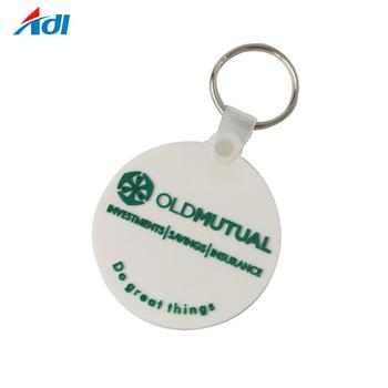 custom soft pvc sublimation round rubber blank keychain