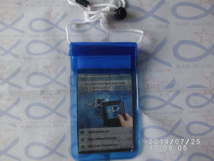 PVC Inflated waterproof phone bag pouch case