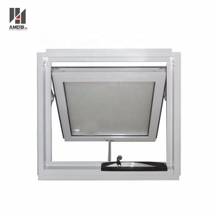 Power coating light grey frosted glass bathroom aluminium awning window