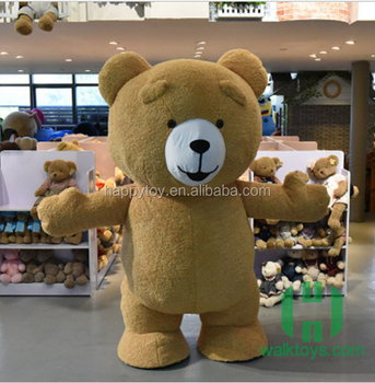2017 New arrival! teddy bear mascot costume plush mascot costume custom costume for rental : teddy bear costume adult  - Germanpascual.Com