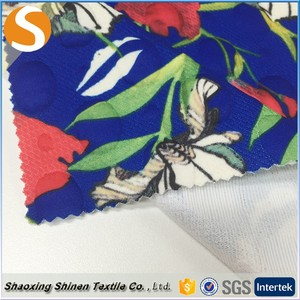 Hot sale clip silk jacquard knit calico silk fabric with floral print african print stretch for low price