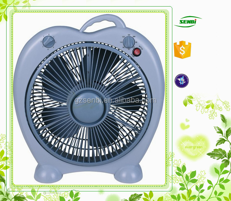 portable box fan 5 PP blades 10''/12'' box fan plastic home used air box fan