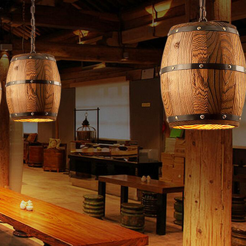 italian modern retro vintage wine barrel chandelier <strong>lighting</strong>