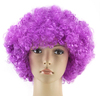 Cheap make fashion red color afro funky disco clown style wig fancy dress mens/ladies curly afro kinky wigs for party W4051