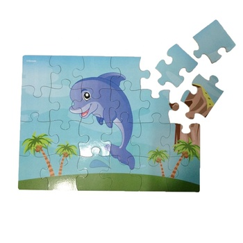 dolphin wooden puzzle toy educational kids game