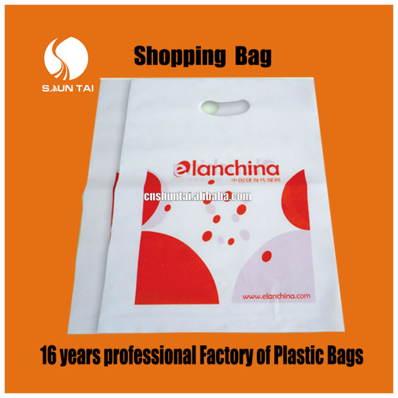 china manufacturer pe knot logo printing shopping plastic bags - buy ...