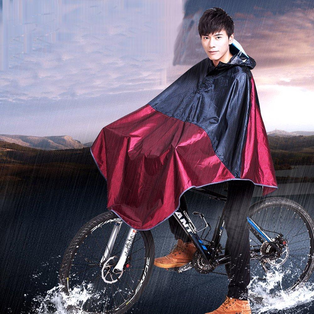 Cycling Bicycle Bike Raincoat Rain Cape Hooded Windproof Rain Coat Scooter Cover