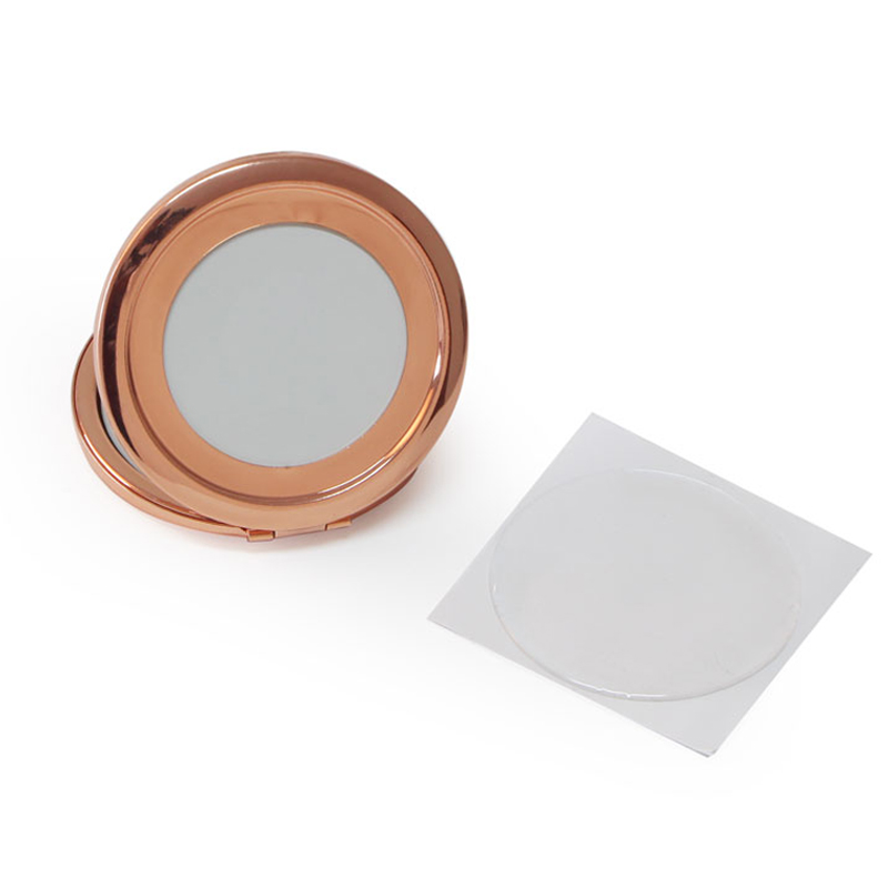 Alibaba.com / Rose Gold sublimation blank photo compact mirror + 58mm resin epoxy sticker