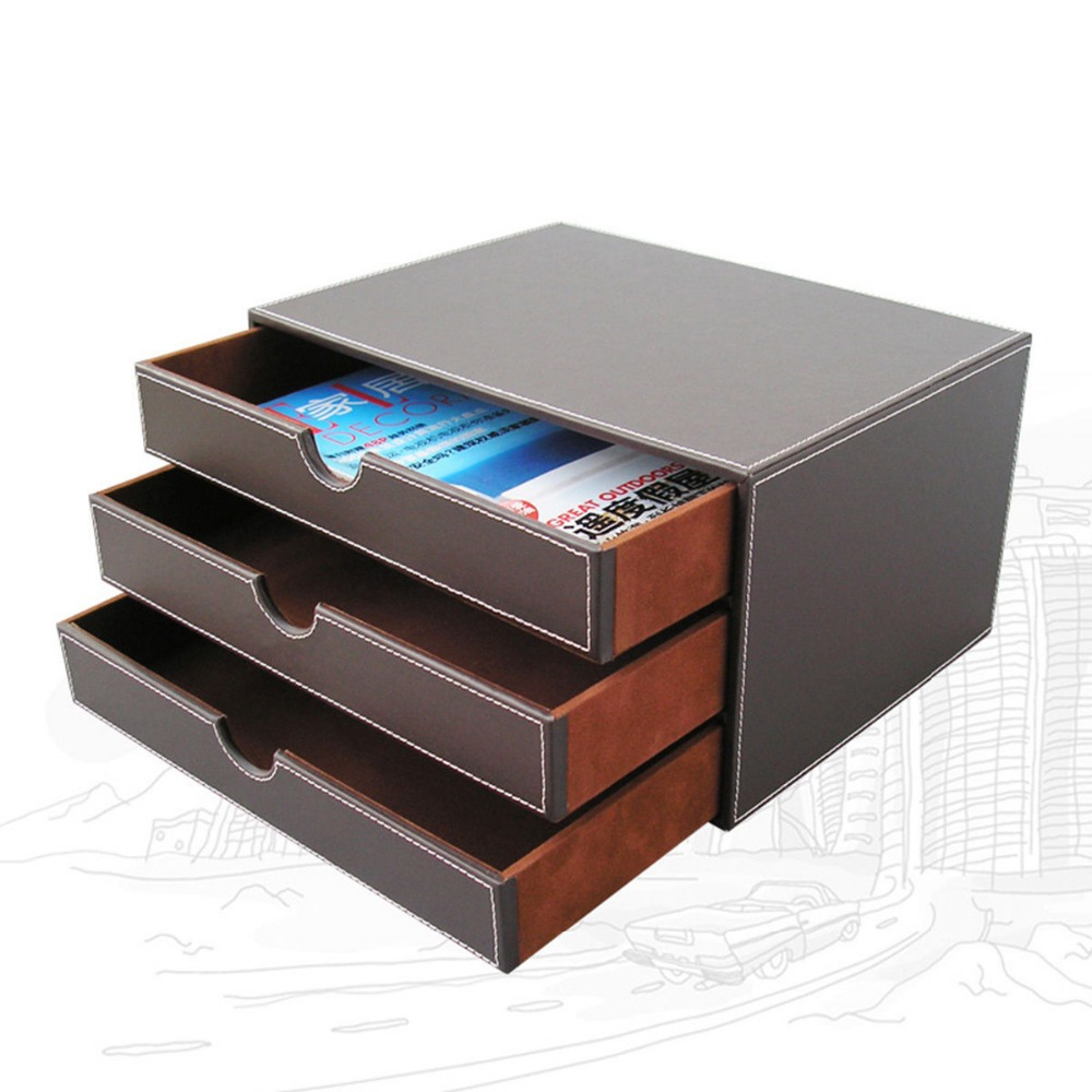 Ever Perfect 3 Layer 3 Drawer File Storage Box Organizer