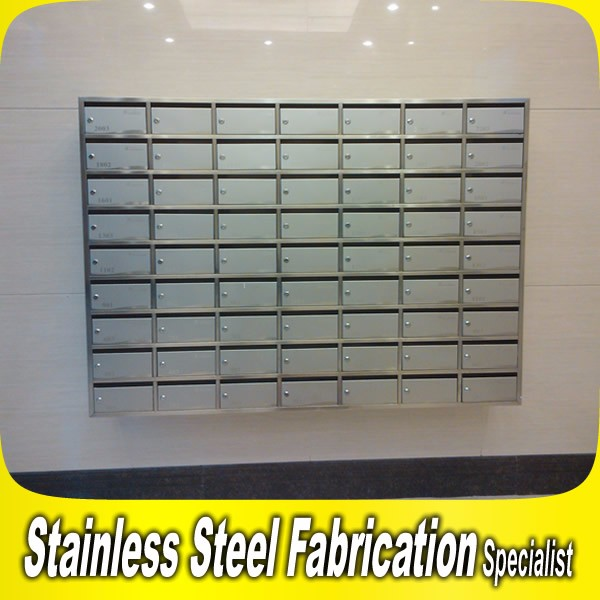 Keenhai Stainless Steel Wall Mount Letter Mailbox For Apartment ...