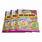 Hardcover Children Sticker book printing with sponge cover