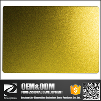 Factory Cold Rolled Gold Color Decorative Sandblasted Stainless Steel Sheet For Bathroom