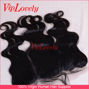 real virgin human hair 13*6 silk base/lace closure frontal Buying in bulk wholesale real mink brazilian hair