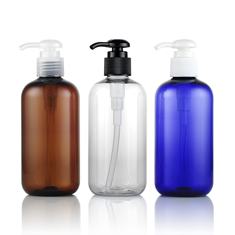 250ml Shampoo-Flasche in Boston-Form mit Pumpe