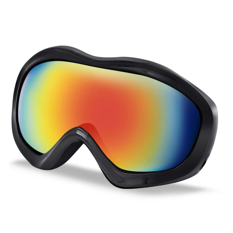 Ski Goggles, Testudo Winter Snow Snowboard Glasses Goggles For Men Women Kids & Youth Snowmobile Skiing Skating Snowboarding - 100% Windproof Anti-fog UV Protection