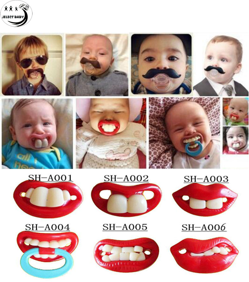 Hot Funny Baby Boy Girl Pacifier Nipple Infant Soother Joke Prank Toddler Orthdontic Nipples Teether Pacifiers Care