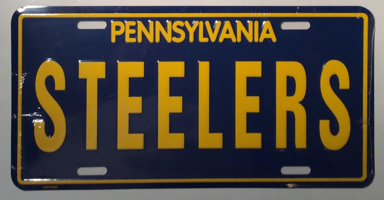 Smart Blonde Sixburgh Pennsylvania Steelers Metal Novelty License Plate LP-2195