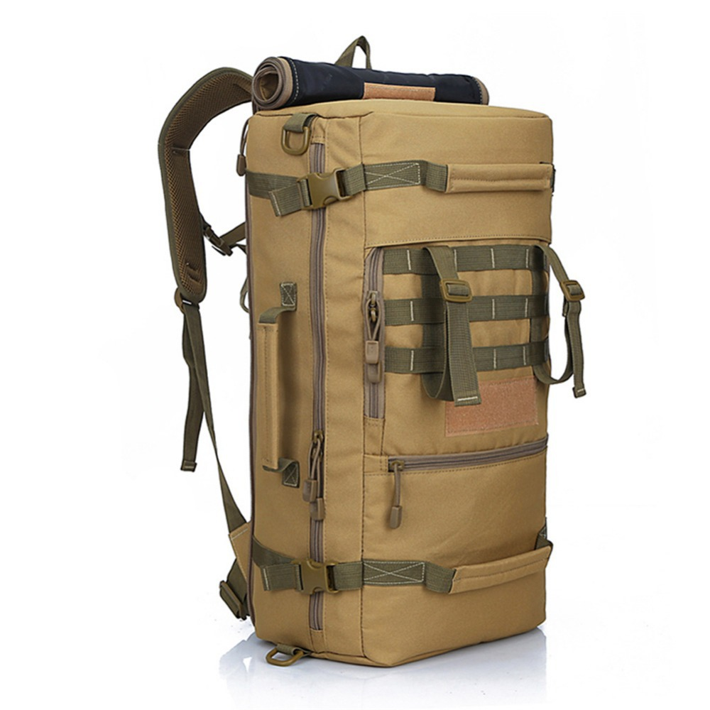 af66ac6746e Buy Mountain Bag Proffesional 50L Outdoor Travel Camping Bag Hiking Climbing  Backpack Military Shoulder Bags Mountaineering Backpack in Cheap Price on  ...