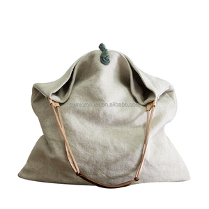 Vintage eco friendly large capacity canvas bag