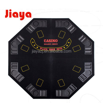 "Preto 48 ""4 dobra dobradura OCTAGON POKER TABLE TOP com carreg o saco"