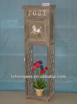 hongwei handmade antique rustic natural wooden post box. Black Bedroom Furniture Sets. Home Design Ideas