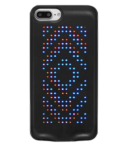 Cool phone case with LED displays in various patterns, blue tooth connection with app control