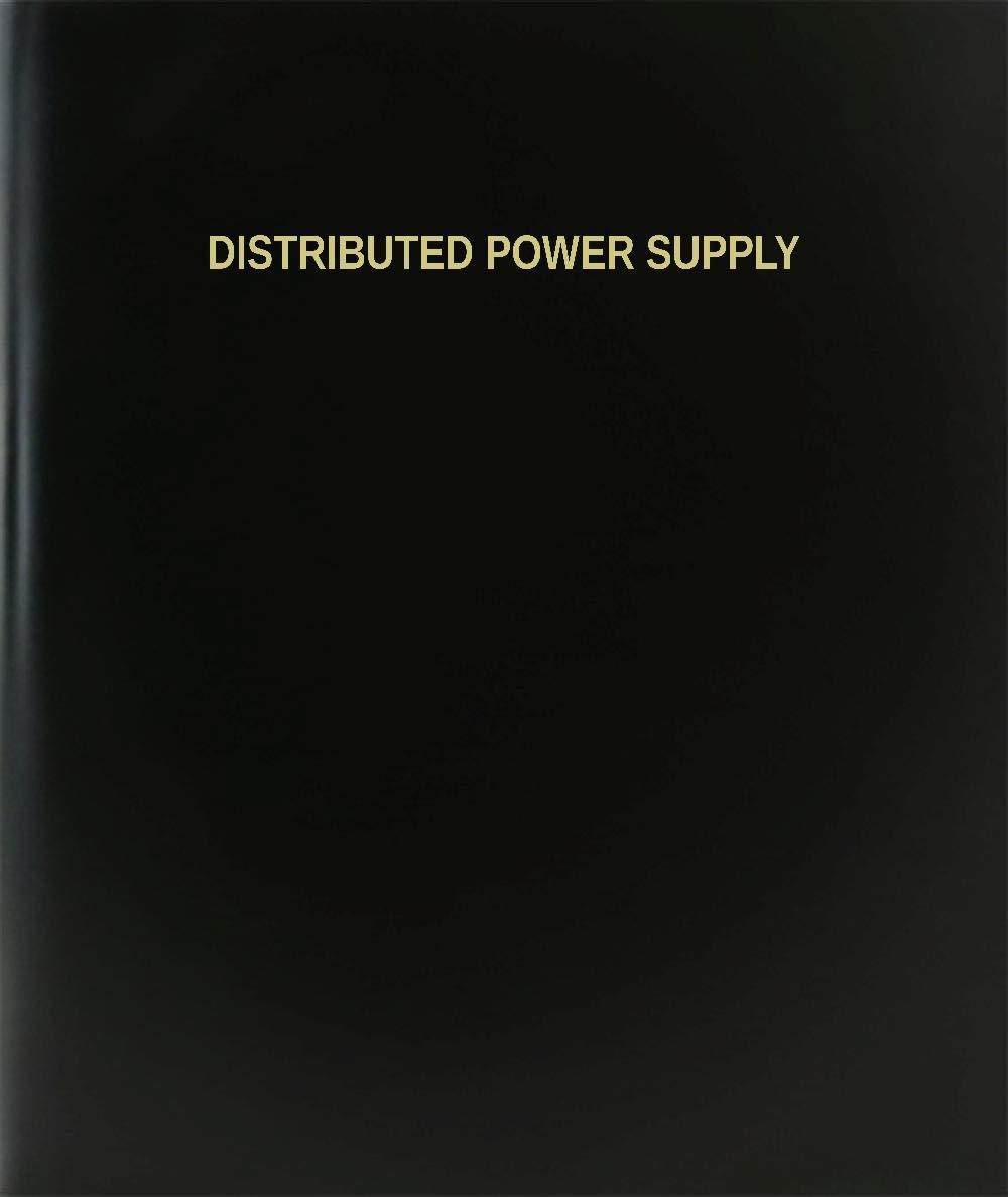 "BookFactory® Distributed Power Supply Log Book / Journal / Logbook - 120 Page, 8.5""x11"", Black Hardbound (XLog-120-7CS-A-L-Black(Distributed Power Supply Log Book))"