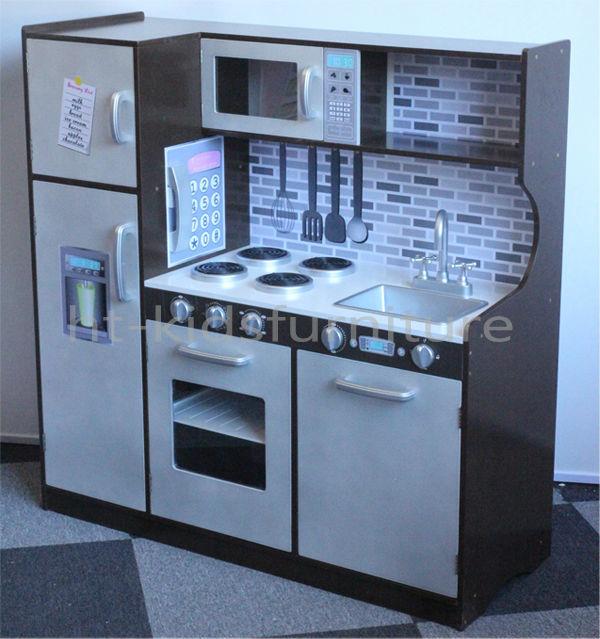 Espresso Wooden Toy Kitchen Set For
