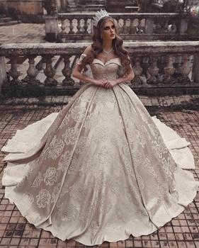 Wedding Dresses Ball Gown.Luxury Gold Satin Wedding Dress Ball Gown Off Shoulder Princess Wedding Gowns Dubai Bridal Dress 2019 New Vestido De Noiva Buy Plus Size Wedding