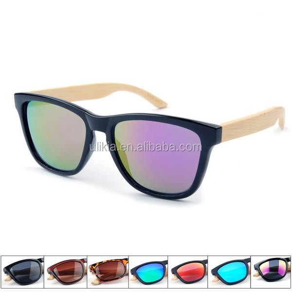Custom wholesale sunglasses <strong>bamboo</strong> UV400 lens
