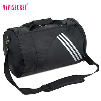 Promotional Polyester Sports Duffle Bags Custom Designer Football Bag Cylinder Gym
