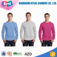 Blank t shirts Wholesale Daily Wear tshirts 5.4 oz T-Shirt Tag Free Jersey Tee boys Custom Cotton t shirt Long Sleeve